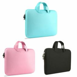 "Soft Sleeve Case Carry Bag Handbag For 15"" 13"" 11"" Apple Mac"