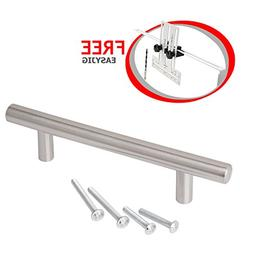 Solid Stainless Steel Cabinet Handles with EasyJig: Satin Ni