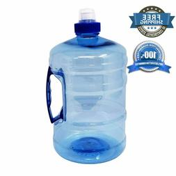 Sports Drinking Water Bottle Jug with Handle ½ Gallon 2.2 L