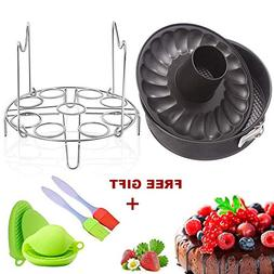 7 Inch Springform Pan Non-stick Leakproof 2 Removable Bottom