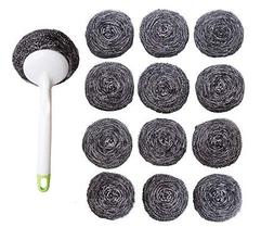 Kitchen Sumo Stainless Steel Sponges Scourer Set with Handle