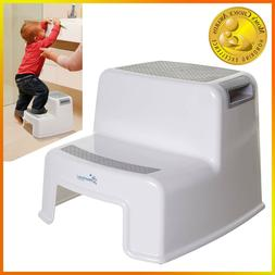 Step Stool Kids with Handle for Kitchen Bathroom Wide 2 Step