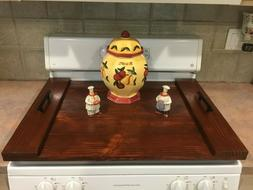 Stove Top Cover Breakfast Tray Noodle Board Rustic Kitchen