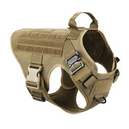 Tactical Dog harness K9 MOLLE Vest with Handle No Pulling Fr