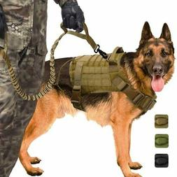 Tactical Dog Harness with Handle/Leash Large Military Dog Ve
