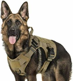 Rabbitgoo Tactical Dog Harness with Handle Nopull Large Mili