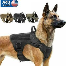 Tactical Dog Harness with Handle No-pull Large Military Dog