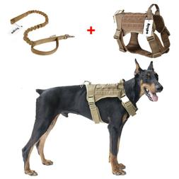 tactical molle chest plate dog harness adjustable