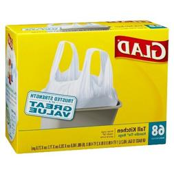 Glad Tall Kitchen Handle-tie Trash Bags 13 Gal 68 Ct