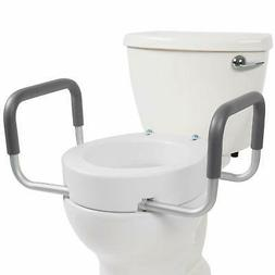 Vive Toilet Seat Riser with Handles - Raised Toilet Seat wit