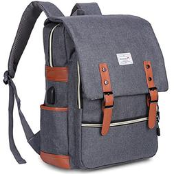 Modoker Vintage Laptop Backpack for Women Men,School College