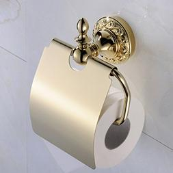 Leyden Wall Mount Bathroom TI-PVD Gold Finish Brass Material