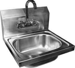 ACE Wall Mount Stainless Steel Hand Sink with No Lead Faucet