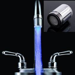 Soledi  NEW LED Water Stream Tap Glow Shower Head Faucet Lig