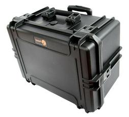 waterproof Hard Case EL1911W Deep Plastic case with wheels a
