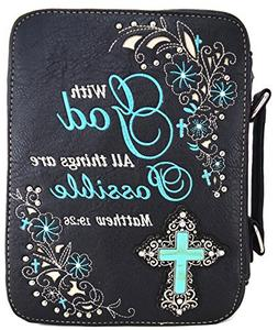 WF Western Style Embroidered Scripture Bible Verse Cover Boo