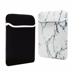 """12-Inch White Marble Reversible Sleeve Bag for 12"""" Macbook /"""