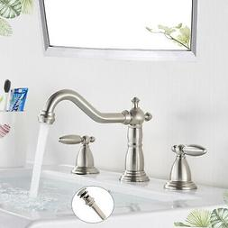 Widespread Bathroom Basin Faucet Oil Rubbed Bronze LED Water