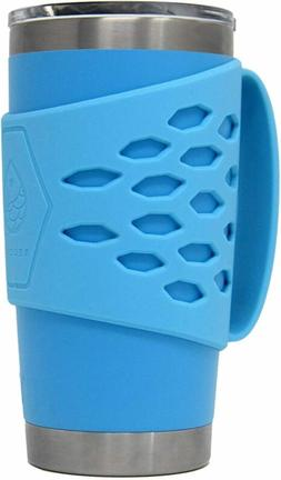 Yeti Rambler 20 oz Tumbler Silicone Sleeve with Handle blue
