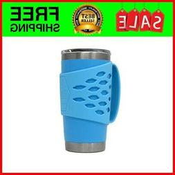 """Yeti Rambler 20 oz Tumbler Silicone Sleeve with Handle blue"