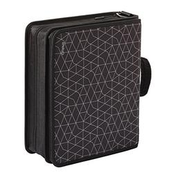 """Oxford Zipper Binder with Tech Storage, 3"""", D-Rings, Handle"""